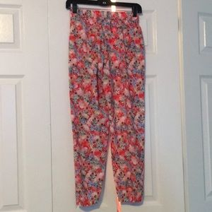 lululemon athletica Pants - Lululemon pink floral pants sz 2 57263